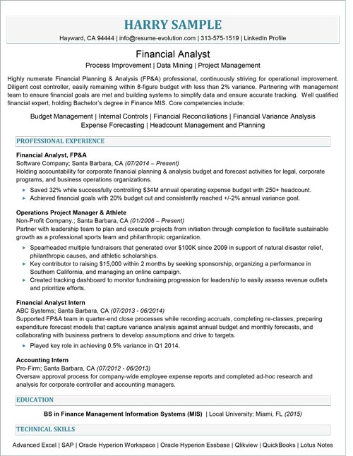 Entry Level Resume Sample Resume Evolution