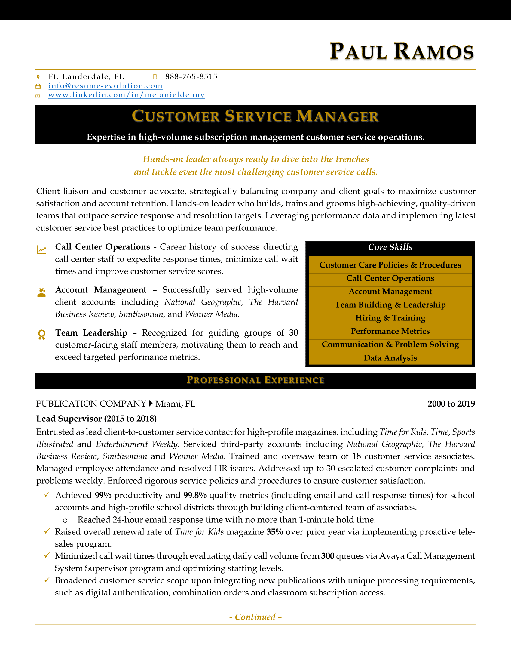 Executive Resume Samples | executive resume writing service